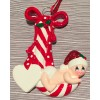 Baby cradled in a Candy Cane  - Red